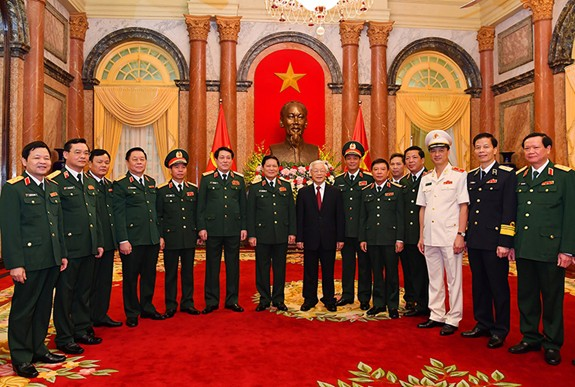 Tổng Bí thư, Chủ tịch nước trao Quyết định thăng quân hàm cho 2 tướng lĩnh quân đội - Ảnh 1.