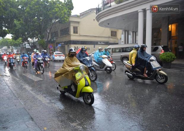 Chùm ảnh: Hà Nội đón cơn mưa rào sau nhiều ngày hanh khô, chỉ số chất lượng không khí được cải thiện - Ảnh 9.