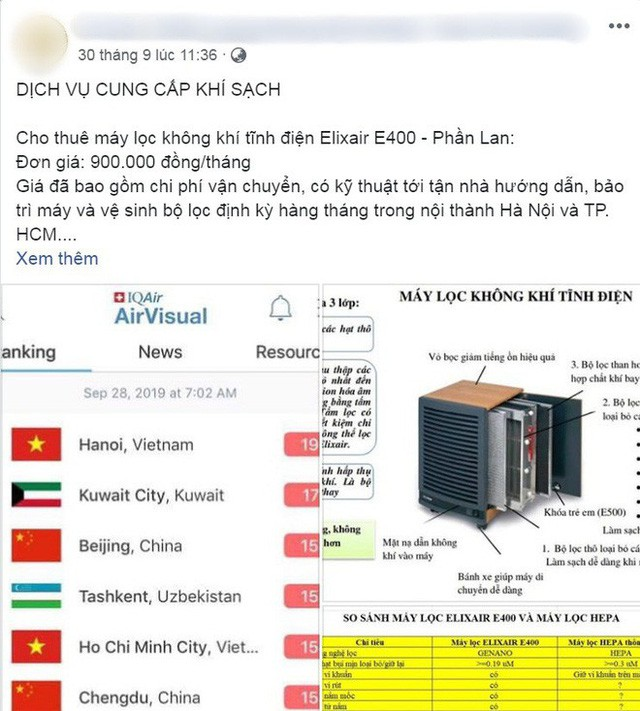 Người Hà Nội bỏ tiền triệu mua khẩu trang xịn và máy lọc không khí, xuất hiện nhiều lời chào hàng chưa kiểm định trên MXH - Ảnh 5.