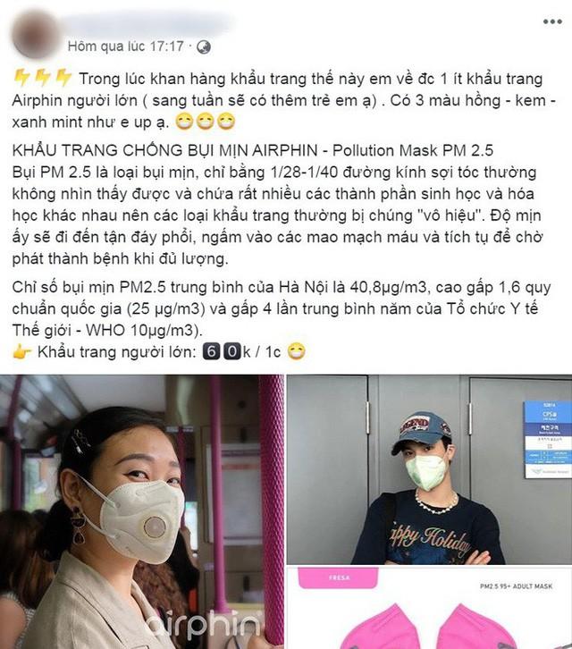 Người Hà Nội bỏ tiền triệu mua khẩu trang xịn và máy lọc không khí, xuất hiện nhiều lời chào hàng chưa kiểm định trên MXH - Ảnh 8.