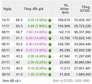 Cổ phiếu Vinaconex Power đột ngột tăng 70% từ cuối tháng 10 - Ảnh 2.