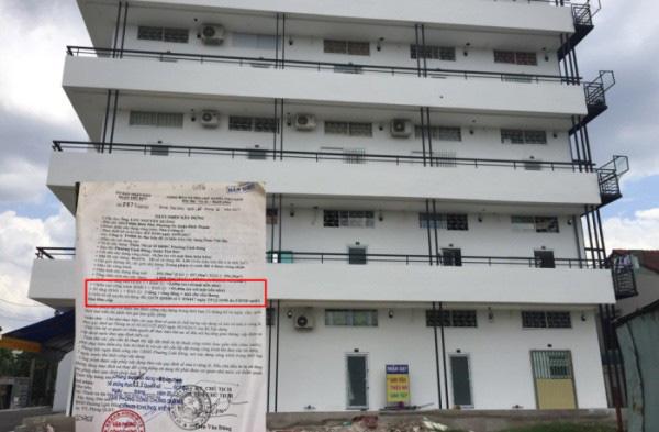 Chung cư mi ni Vietnam House biến tấu từ giấy phép xây nhà ở gia đình riêng lẻvà ngang nhiên tồn tại ngay trung tâm quận Thủ Đức suốt 2 năm.