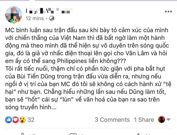 Fan phẫn nộ khi BTV Quốc Khánh troll Bùi Tiến Dũng bằng cách... gọi điện cho Văn Lâm sang bắt SEA Games - Ảnh 2.