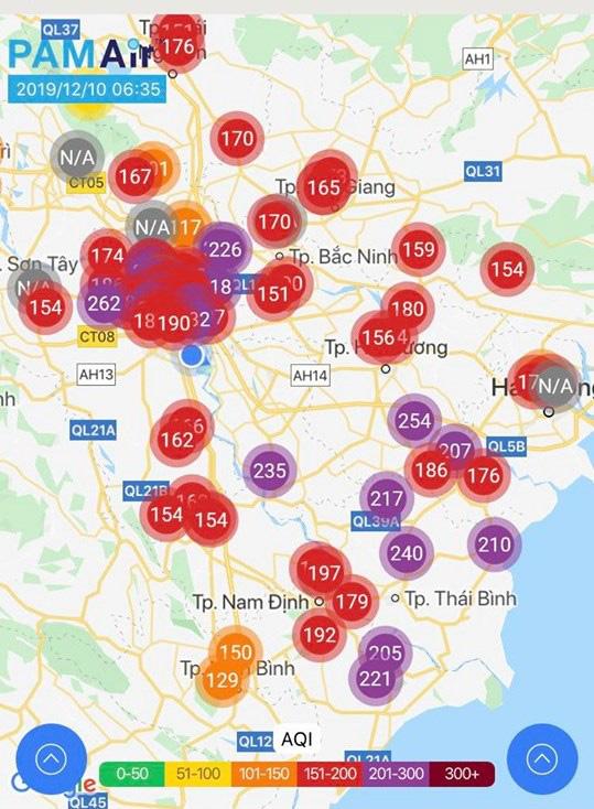 Ô nhiễm không khí Bắc Bộ ở ngưỡng báo động  - Ảnh 1.