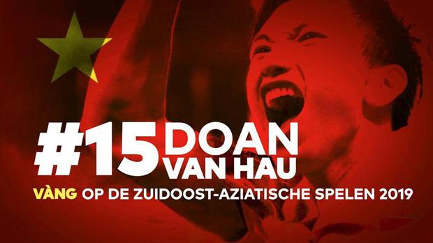 Lễ tôn vinh Văn Hậu: Đội bóng Hà Lan chiếu 2 bàn thắng của chàng trai Việt Nam ở chung kết SEA Games 30 cho khán giả theo dõi trên màn hình lớn - Ảnh 3.
