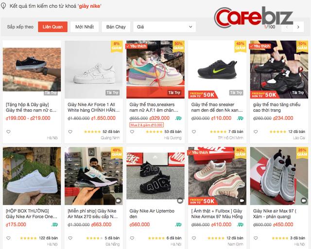 Nhập giày Nike fake từ Trung Quốc về bán online số lượng lớn tại Việt Nam, chỉ sở hữu 1 kho hàng nhưng mở la liệt 20 gian hàng trên sàn TMĐT để đè bẹp đối thủ!  - Ảnh 1.