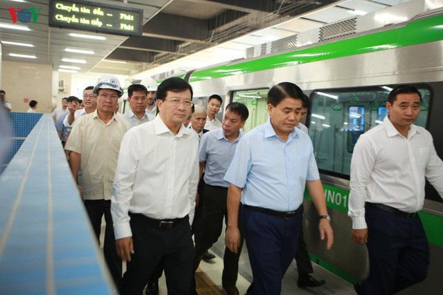 Đang nghiệm thu từng phần tuyến đường sắt Cát Linh - Hà Đông - Ảnh 3.