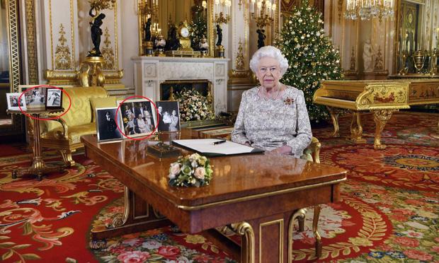 Nữ hoàng Anh phát biểu thông điệp Giáng sinh, nhưng đáng chú ý là không có hình của vợ chồng Meghan trên bàn của bà - Ảnh 2.