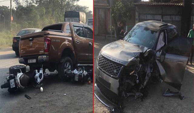 Xe Range Rover tông liên hoàn 4 ô tô và xe máy ở Hà Nội - Ảnh 1.