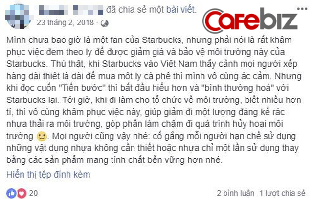 """Mang bình/cốc đến Starbucks để được giảm 10.000 đồng: Thông điệp ý nghĩa đằng sau chiến dịch """"xanh"""" của chuỗi cà phê lớn nhất thế giới - Ảnh 1."""