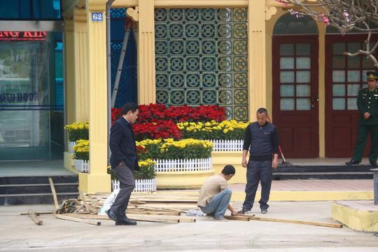 An ninh thắt chặt, phóng viên quốc tế có mặt tại Ga Đồng Đăng trước Thượng đỉnh Mỹ-Triều - Ảnh 4.