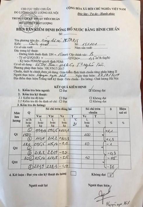 Vụ tiền nước 23,6 triệu: Bất ngờ kết quả kiểm định đồng hồ nước - Ảnh 1.