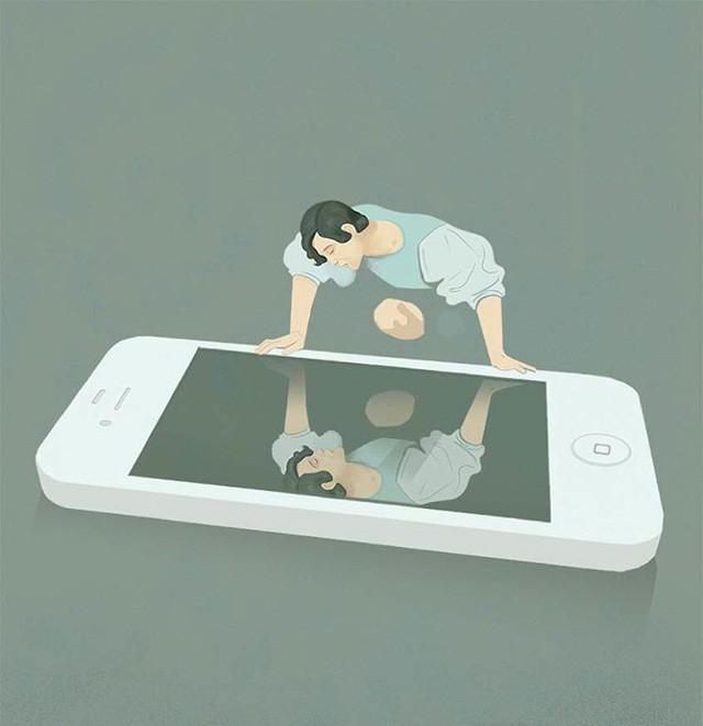 9 bức tranh khắc họa khoảng tối của cuộc sống hiện đại: Nếu không tự thoát khỏi những vòng trùng lặp, bạn đang tự biến mình thành cái máy - Ảnh 3.