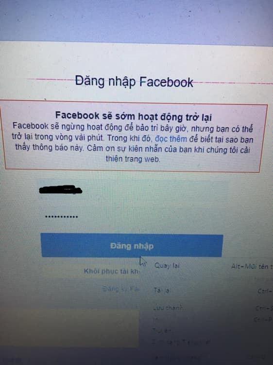 Facebook vẫn đang lỗi, người dùng không thể đăng tin, khó đăng nhập, chính Facebook cũng phải dùng Twitter để thừa nhận đang gặp vấn đề - Ảnh 1.