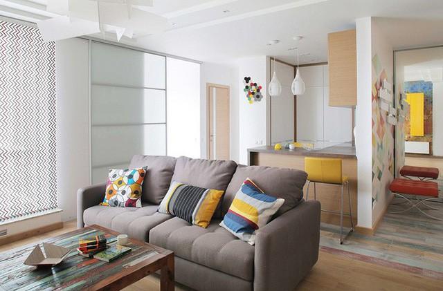 Cách sử dụng màu sắc giúp căn hộ vỏn vẹn 25m² này đẹp đến bất ngờ - Ảnh 1.