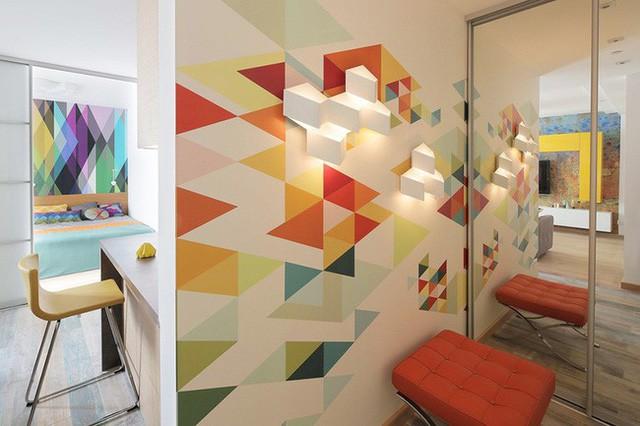 Cách sử dụng màu sắc giúp căn hộ vỏn vẹn 25m² này đẹp đến bất ngờ - Ảnh 2.