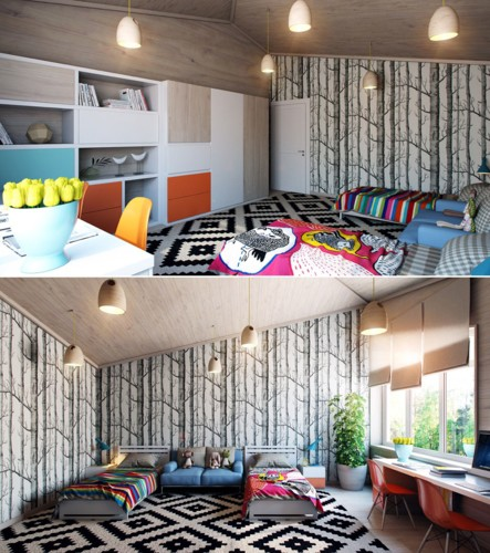 Cách kiến trúc phòng ngủ tươi sáng và ngập tràn sắc màu cho trẻ - Ảnh 5.