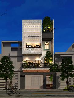 Đất méo mó vẫn xây được nhà phố 4 tầng đẹp như mơ - Ảnh 1.