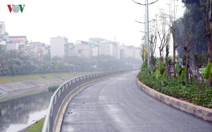 Ngắm con đường đi bộ dài nhất Thủ đô đang dần hoàn thiện - Ảnh 3.