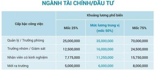 Lương quản lý ngành tài chính, đầu tư tới hơn 70 triệu đồng/tháng - Ảnh 1.