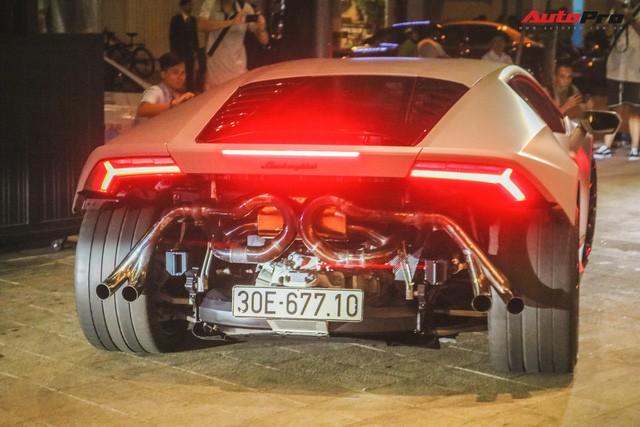 Sau Ferrari 458 Liberty Walk, đến lượt Lamborghini Huracan LP580-2 độc nhất Việt Nam độ phong cách giấu đầu hở đuôi - Ảnh 4.