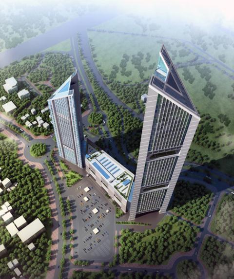 Loạt tòa tháp chọc trời dồn dập đổ bộ, biến nơi đây thành trung tâm tài chính - thương mại mới của Hà Nội - Ảnh 2.