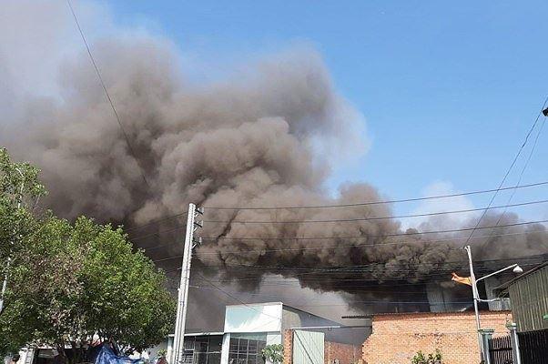 Công ty gỗ ở Bình Dương phát cháy dữ dội - Ảnh 5.