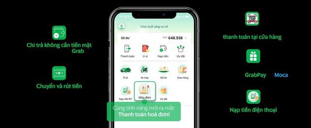 Grab ra mắt tính năng thanh toán hoá đơn điện, nước và điện thoại trả sau qua GrabPay by Moca - Ảnh 1.