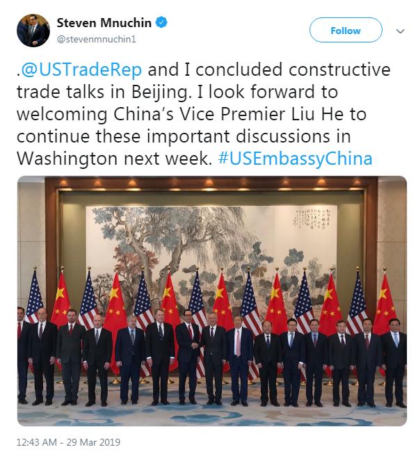 Mỹ - Trung kết thúc đàm phán thương mại, Trung Quốc cảnh báo sẽ không chớp mắt trước - Ảnh 1.