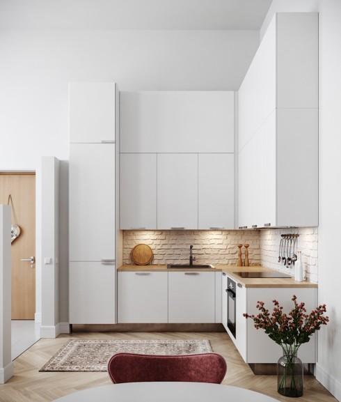 Mẫu tủ bếp đẹp cho căn hộ chung cư - Ảnh 2.