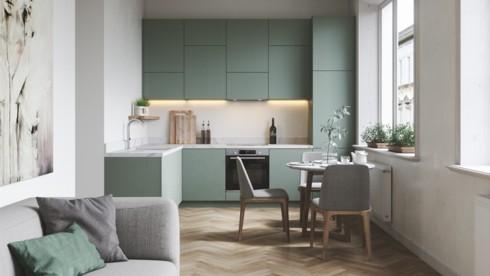 Mẫu tủ bếp đẹp cho căn hộ chung cư - Ảnh 5.