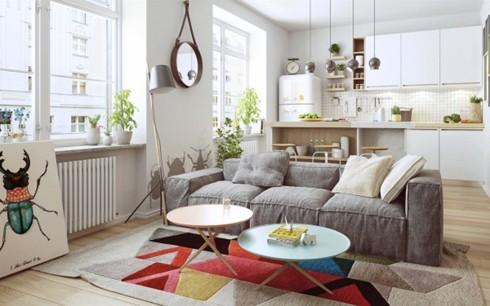 Thiết kế phòng ở mang đặc trưng nội thất Bắc Âu - Ảnh 1.