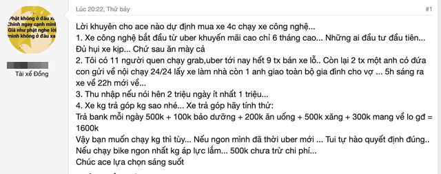 """Tài xế chạy taxi công nghệ phơi bày thực tế khắc nghiệt: Ngày kiếm 1 triệu đồng nhưng chi phí lên tới 1,3 triệu, ai vào sau đều """"ăn mày cả"""" - Ảnh 1."""