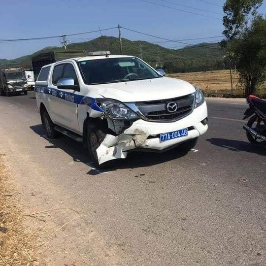 Xe CSGT Bình Định gây tai nạn chết người khi đi tuần tra  - Ảnh 1.