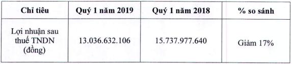 Suất ăn Hàng không Nội Bài (NCS): Quý 1/2019 doanh thu đi ngang, phát sinh lãi vay khiến lợi nhuận giảm 17% về 13 tỷ đồng - Ảnh 1.