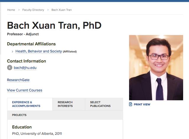 PGS trẻ nhất Việt Nam vừa đc bổ nhiệm chức danh Giáo sư tại ĐH Johns Hopskin, Mỹ là ai? - Ảnh 1.