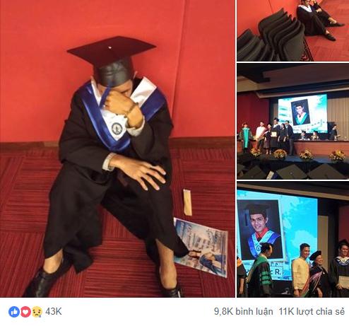 Cử nhân Philippines gục khóc trong ngày ra trường: 4 lần tốt nghiệp loại xuất sắc, bố mẹ không đến 1 lần nào - Ảnh 1.