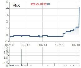 VNX công bố trả cổ tức tiền mặt tỷ lệ 50% sau khi cổ phiếu tăng trần 10 phiên liên tiếp - Ảnh 1.