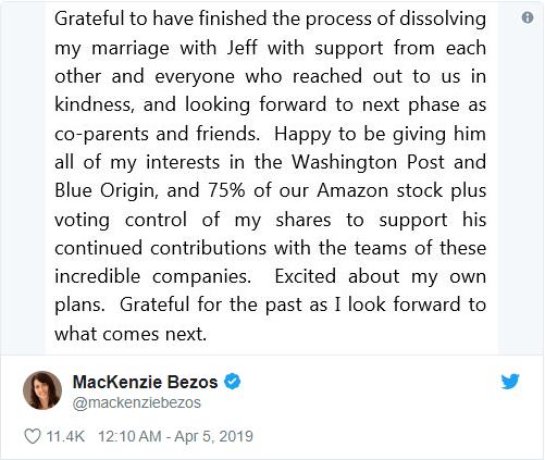 Tỷ phú Jeff Bezos biết ơn vợ cũ sau vụ ly hôn đắt giá nhất thế giới: Tôi luôn học hỏi được nhiều điều từ cô ấy, hy vọng chúng tôi vẫn là những người bạn - Ảnh 2.