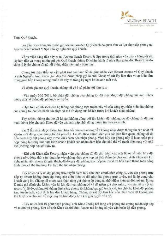 """Youtuber Khoa Pug lên tiếng vụ Aroma Resort: Đã nhận lời xin lỗi từ Aroma, mong cộng đồng đừng tẩy chay, """"tiệt đường sống của họ"""" - Ảnh 2."""