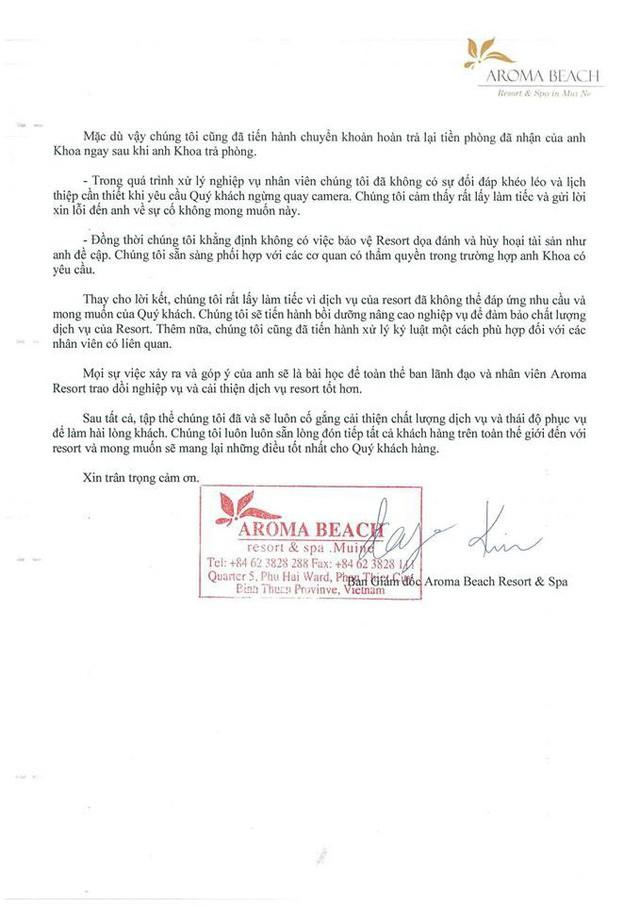 """Youtuber Khoa Pug lên tiếng vụ Aroma Resort: Đã nhận lời xin lỗi từ Aroma, mong cộng đồng đừng tẩy chay, """"tiệt đường sống của họ"""" - Ảnh 3."""