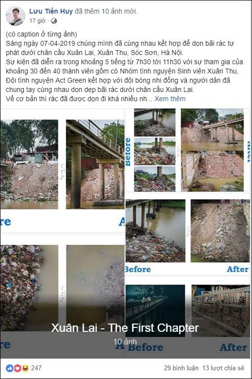 Chuyện đau đầu của Thử thách dọn rác: Bục mặt 4 tiếng dọn sạch chân cầu Xuân Lai, đến chiều người dân lại... vứt rác - Ảnh 1.