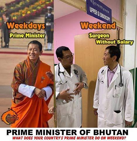 Thủ tướng Bhutan làm bác sĩ chữa bệnh cho người dân vào cuối tuần - Ảnh 1.
