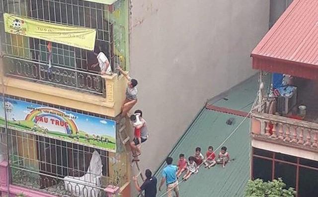 Hà Nội: Xác định nguyên nhân vụ cháy trường mầm non, học sinh thoát ra ngoài bằng mái nhà - Ảnh 1.
