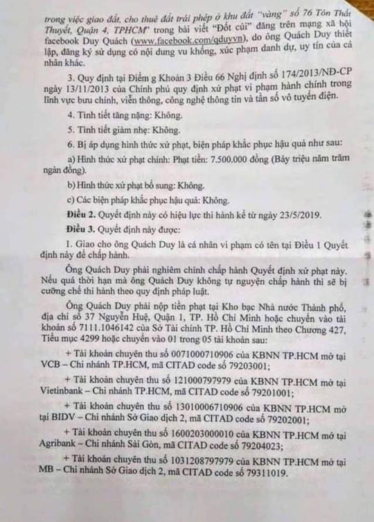 Một chuyên viên Văn phòng UBND TP HCM bị phạt do xúc phạm lãnh đạo  - Ảnh 2.