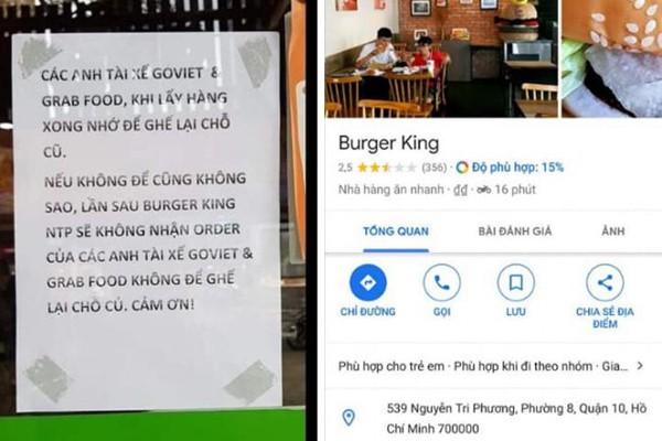 Cửa hàng Burger King bị dìm sao hội đồng vì kỳ thị tài xế Grab, Go Viet - Ảnh 1.