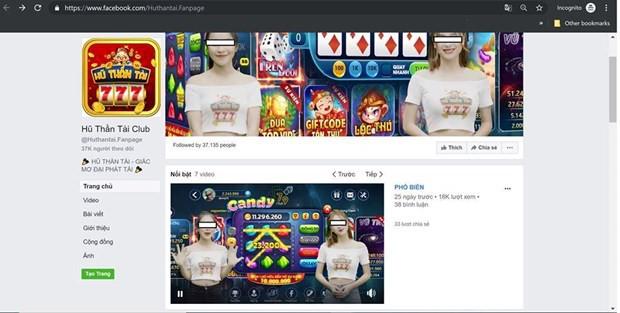 Lại xuất hiện thêm một game cờ bạc trá hình trên Internet  - Ảnh 2.