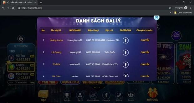Lại xuất hiện thêm một game cờ bạc trá hình trên Internet  - Ảnh 3.