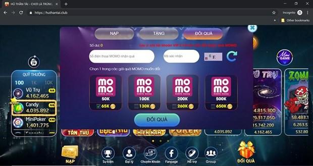 Lại xuất hiện thêm một game cờ bạc trá hình trên Internet  - Ảnh 4.