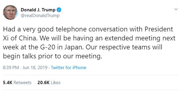 Ông Trump bất ngờ điện đàm với ông Tập Cận Bình, xác nhận cuộc gặp thượng đỉnh ở Nhật Bản - Ảnh 1.